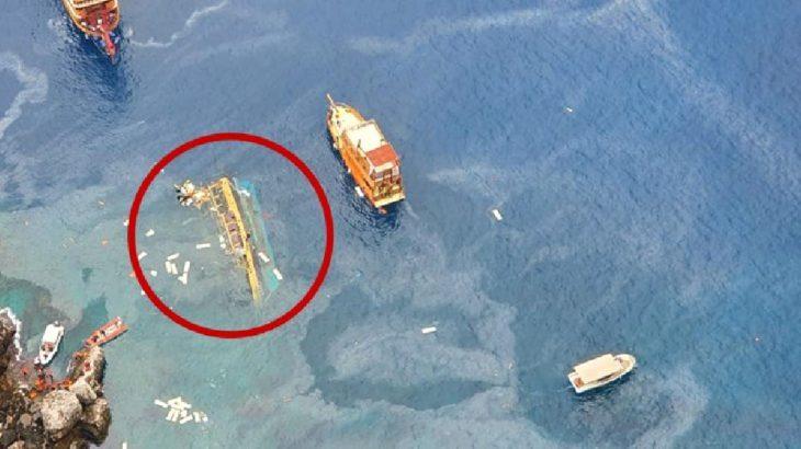 Alanya'da tur teknesi battı: 1 ölü