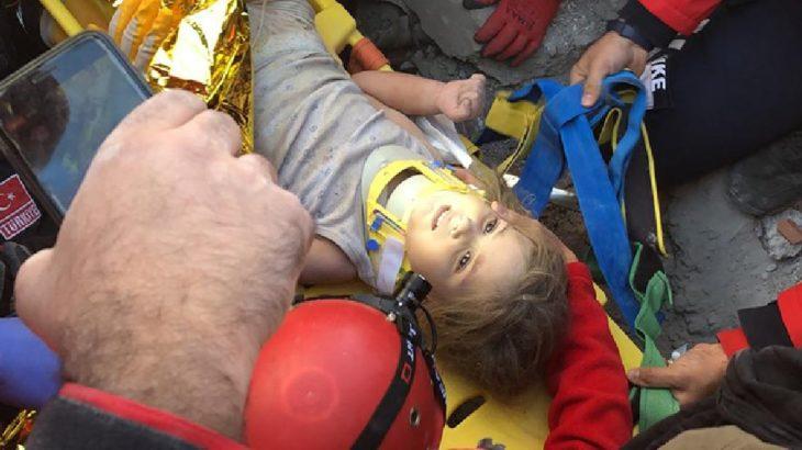 Depremin 91. saati: 4 yaşındaki Ayda enkazdan kurtarıldı
