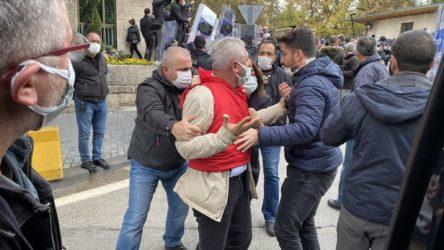 DİSK'e Meclis önünde polis müdahalesi!