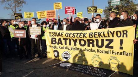 Esnaftan Kadıköy'de eylem: Destek bekliyoruz çünkü batıyoruz