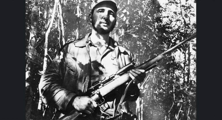 Direnişçi lideri Castro, bilinmeyen bir lokasyonda. Küba, 26. Şubat 1957