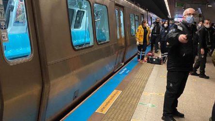 Taksim metrosunda intihar girişimi!