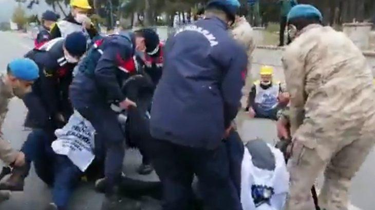 Madencilerin Ankara yürüyüşüne polis müdahalesi!