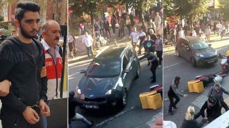 Bakırköy'de kız arkadaşını darp edip, tepki gösterenlerin üzerine arabasını süren Göçmen'e 9 yıl hapis!