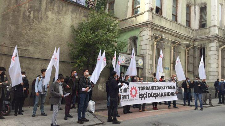 Sınıf Tavrı'ndan İstanbul'da 'torba yasa' eylemi