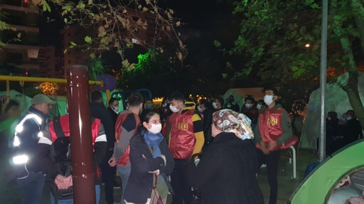 TKH'den İzmir'de depremzedelere ziyaret