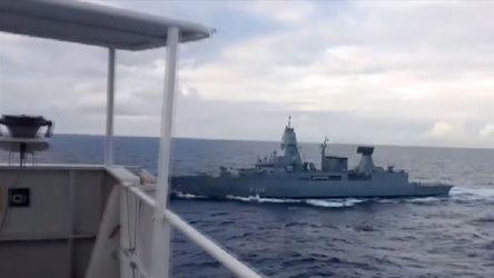MSB: Alman firkateyninin arama timi cebren gemiye çıkmıştır