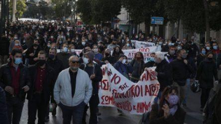 Yunanistan'da greve karşı koronavirüs karantinasını uzatma kararı