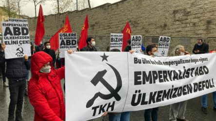 Komünistlerden ABD Başkonsolosluğu önünde eylem
