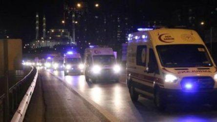 İstanbul'da konvoy halindeki 61 ambulans paniğe neden oldu