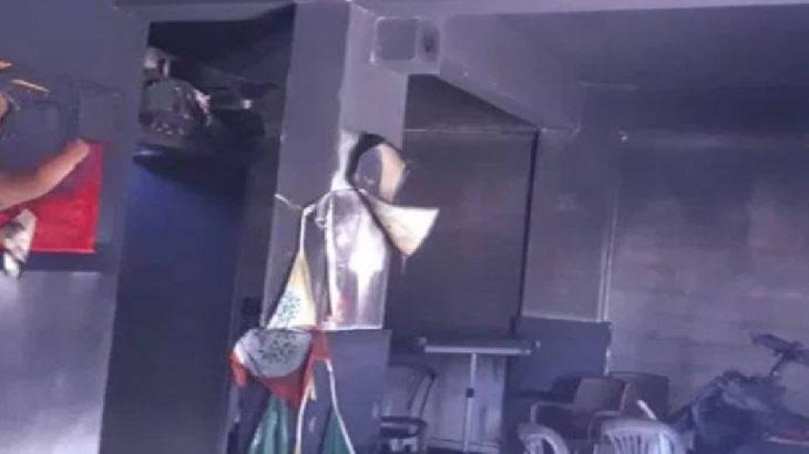 HDP'nin İnegöl ilçe binası ateşe verildi