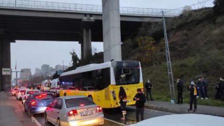 Hafriyat kamyonu İETT otobüsüne çarptı: 9 yaralı