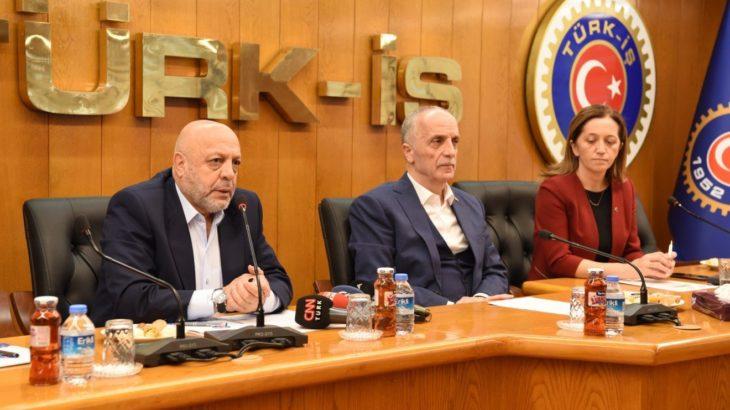Asgari ücret görüşmeleri öncesi DİSK, Türk İş ve Hak İş'ten ortak açıklama