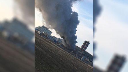 Burdur'da cezaevi inşaatında işçilerin kaldığı konteynerde yangın çıktı