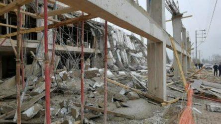 Bursa'da inşaatta çökme: 4 işçi yaralandı
