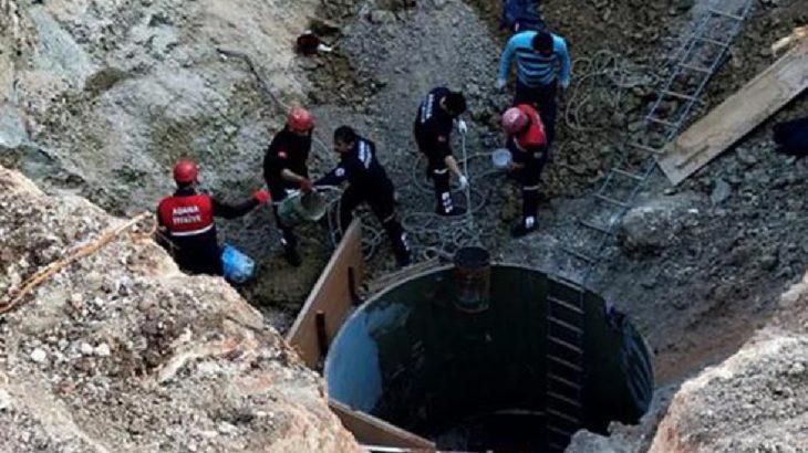 İşçiler kuyu açarken toprak altında kaldı