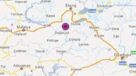 Elazığ Sivrice'de 4,1 büyüklüğünde deprem