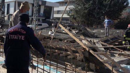 Gaziantep'te inşaatta beton dökümü sırasında zemin çöktü: 2 işçi yaralı