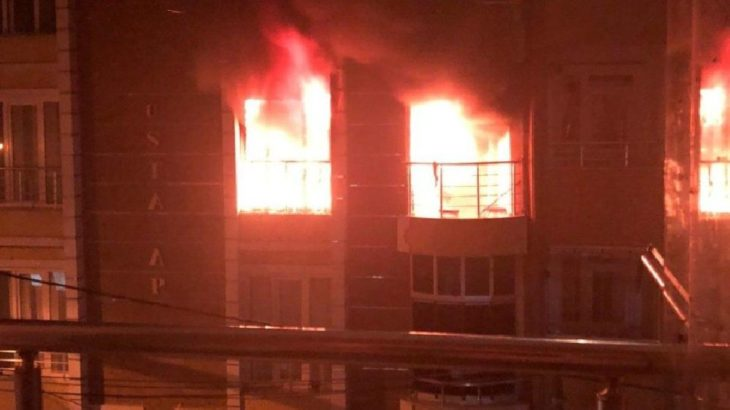 İstanbul'da yangın sırasında dairede patlama: 1 ağır yaralı