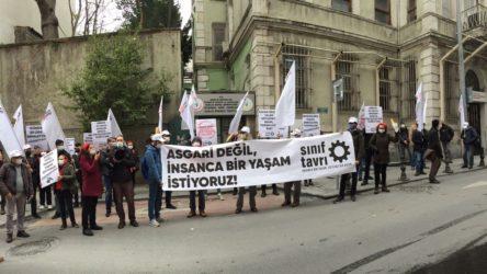 Sınıf Tavrı'ndan İstanbul ve İzmir'de 'asgari ücret' eylemi