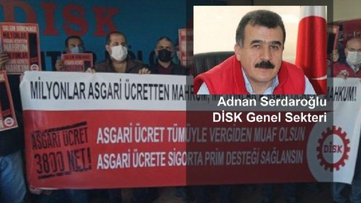DİSK Genel Sekteri Adnan Serdaroğlu Manifesto'ya konuştu