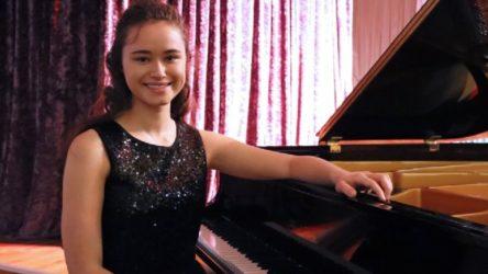 Genç piyanist Nehir, uluslararası yarışmada birinci oldu