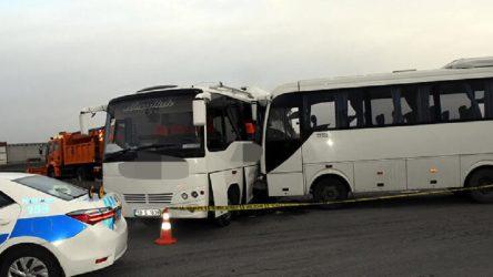 Servisler çarpıştı: 19 işçi yaralandı