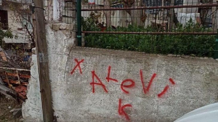 Yalova'da Alevi yurttaşların evini işaretleyip, nefret yazıları yazdılar