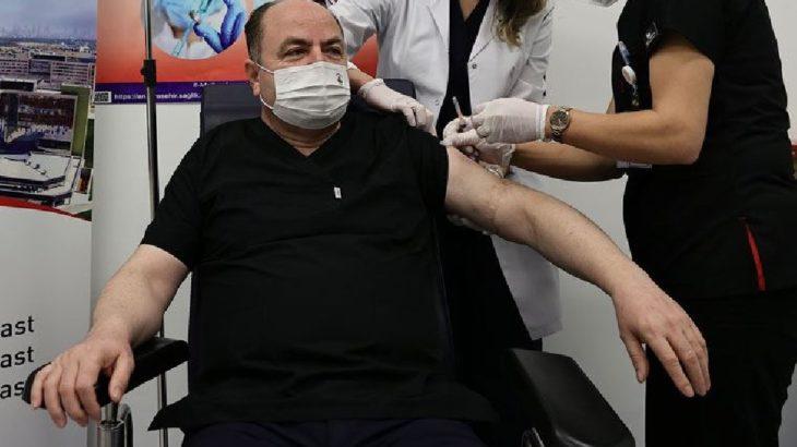 'Devlet büyüğü' kapsamında ANAP Genel Başkanı koronavirüs aşısı oldu