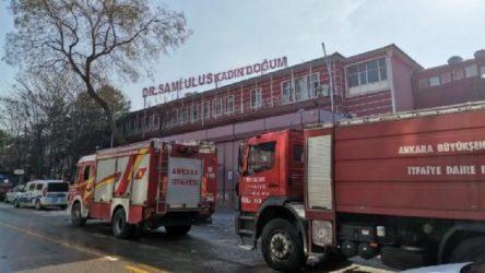 Ankara Dr. Sami Ulus Çocuk Hastanesi'nde yangın çıktı