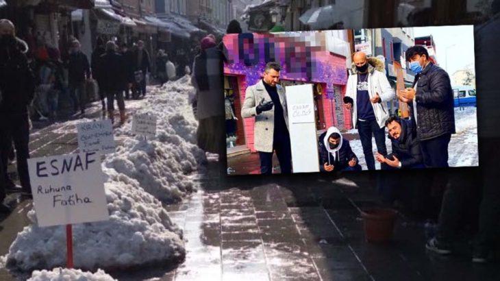 Esnaf 'kardan mezar' hazırladı