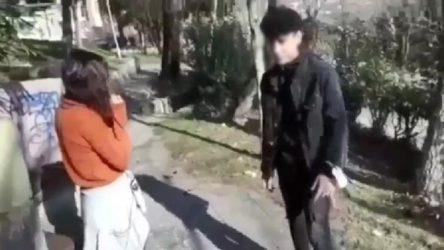 Kız arkadaşına şiddet uyguladığı videoyu sosyal medyada paylaştı