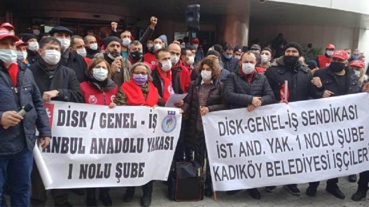 Belediye işçilerinden Kartal'da eylem