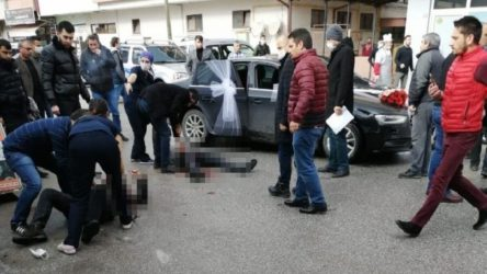 Hastane önünde silahlı saldırı: 1 ölü, 2 yaralı