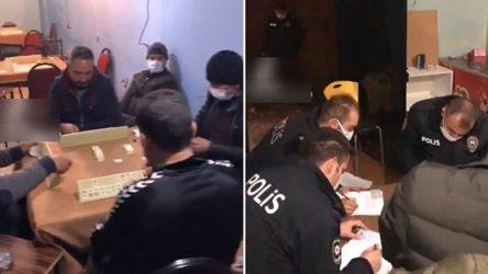 Polis baskın yaptı, cezayı kimin ödeyeceğini belirlemek için okey oynamaya devam ettiler