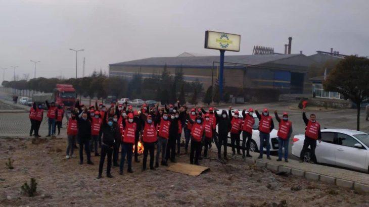 Ekmekçioğlu işçilerine DİSK'ten destek ziyareti