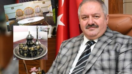 Kayseri OSB'de milyonluk israf: 1,5 milyon liraya 'Osmanlı odası', 73 bin liralık tesbih, 23 bin liralık tuğralı fincan takımı