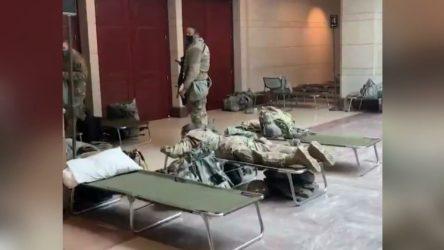 O görüntülerin ardından ABD Kongre binasına askeri sedye yığıldı