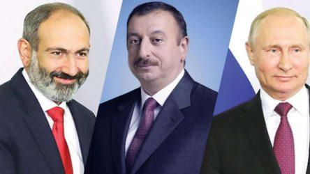 Kremlin: Rusya, Azerbaycan ve Ermenistan liderleri arasında üçlü görüşme yapılacak