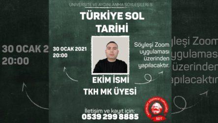 """SDT'nin çevrimiçi söyleşileri devam ediyor: Bu hafta """"Türkiye Sol Tarihi"""" Söyleşisi"""
