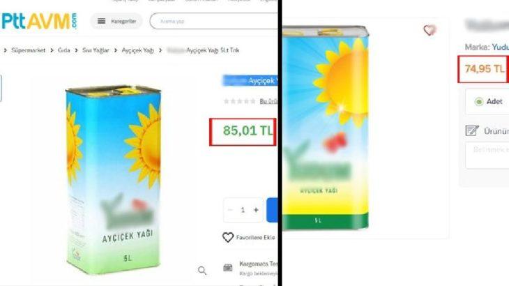 5 litrelik ayçiçek yağı, 'ucuz satacak' denilen PTT'de marketten daha pahalı!