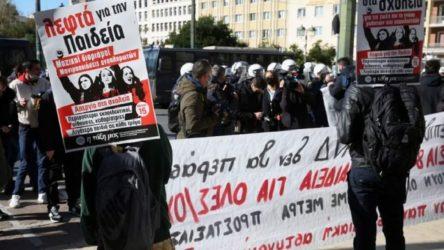 Yunanistan'da öğrenciler protesto eylemleri yaptı