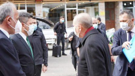 Erdoğan'ın ziyaret ettiği ilçe başkanının koronavirüs testi pozitif çıktı