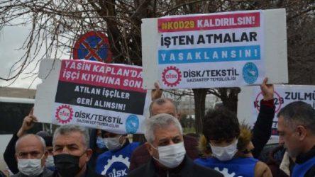 Antep'te Yasin Kaplan işçilerine