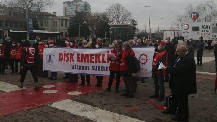DİSK Emekli-Sen Kadıköy'de kuruluş yıl dönümünü kutladı