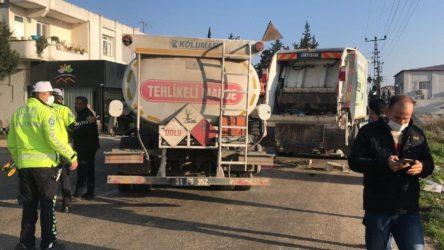 Yakıt tankerinin çarptığı çöp kamyonundaki temizlik işçisi yaşamını yitirdi