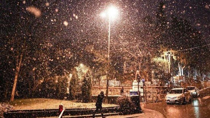 İstanbul'da kar başladı