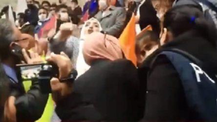 AKP kongresinde kavga