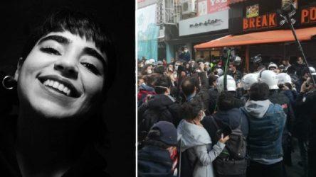 Katılmadığı eylemden gözaltına alınan Özge Elvan adli kontrol şartıyla serbest bırakıldı