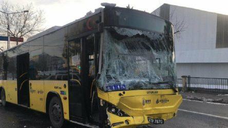 İETT otobüsüyle işçi servisi çarpıştı: 7 yaralı